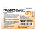 PDI SANI-CLOTH® BLEACH GERMICIDAL DISPOSABLE WIPE, LARGE 75'S #P54072