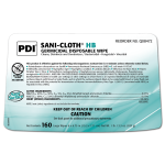 PDI SANI-CLOTH® HB GERMICIDAL DISPOSABLE WIPE, LARGE 160's #Q08472