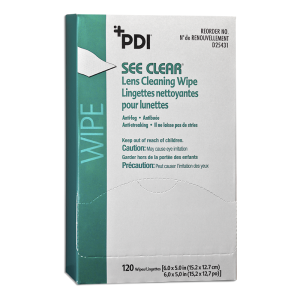 PDI SEE CLEAR® EYE GLASS CLEANING WIPE #D25431