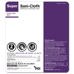 PDI SUPER SANI-CLOTH® GERMICIDAL DISPOSABLE WIPE, EXTRA LARGE 65'S #Q86984
