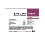 PDI SANI-CLOTH® PRIME GERMICIDAL DISPOSABLE WIPE, LARGE #H06182 *Temporarily unavailable*