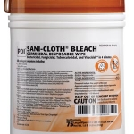 PDI SANI-CLOTH® BLEACH GERMICIDAL DISPOSABLE WIPE, LARGE 75'S #P54072 EXPIRES 01/22 CASE ONLY